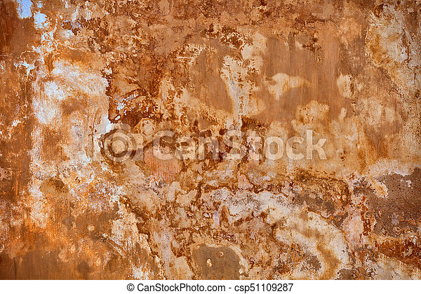 Beige wall with mold - background - csp51109287