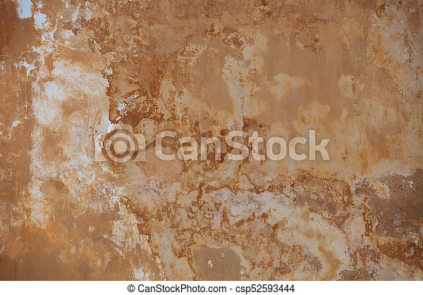 Beige wall with mold - background - csp52593444