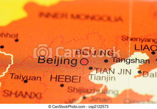 Beijing on map - csp2122573