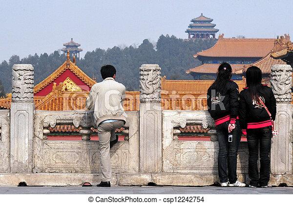 beijing, porzellan, verbotene stadt - csp12242754