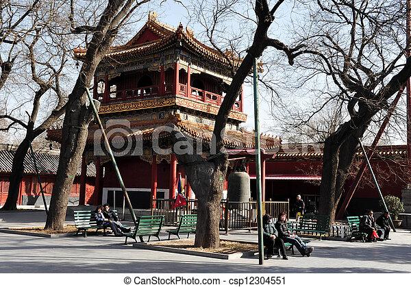 El templo lama en China beijing - csp12304551