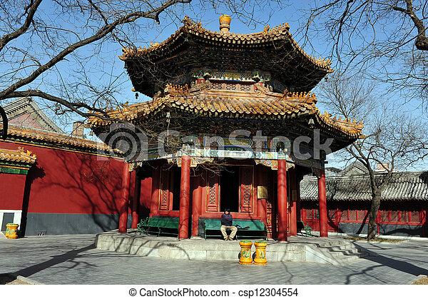 El templo de lama en China - csp12304554