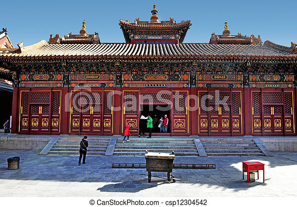 El templo lama en China beijing - csp12304542