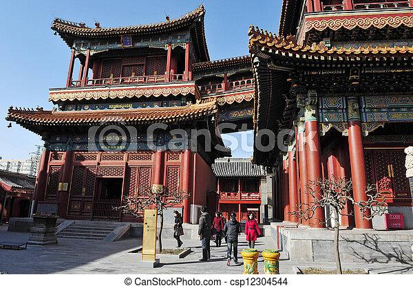El templo lama en China beijing - csp12304544