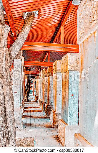 beijing-the, confucius, piedra, más grande, tableta, templo, dentro, segundo, china., confuciano - csp80530817