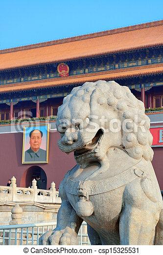 Tiananmen en Beijing - csp15325531