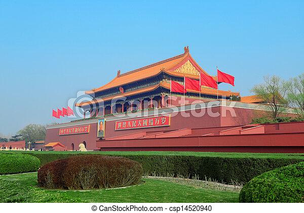 Tiananmen en Beijing - csp14520940
