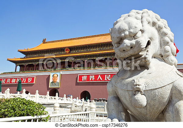 Beijing, Tiananmen Square, Forbidden City - csp17346276