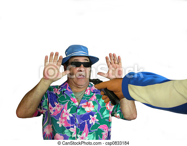 740d4eec7 Being robbed. A tourist in a hawaiian shirt,sunglasses, and a hat ...