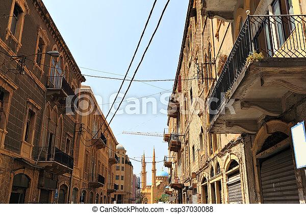 Beirut, old architecture - csp37030088