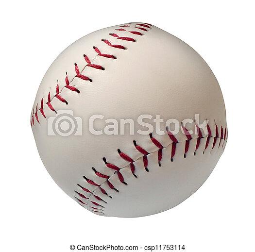 Béisbol o softball está aislado - csp11753114