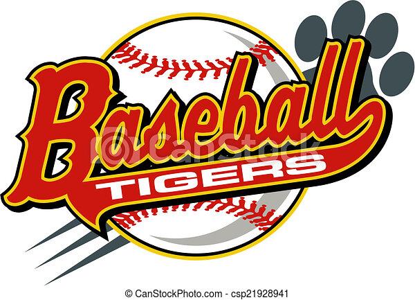 El béisbol de los Tigres - csp21928941
