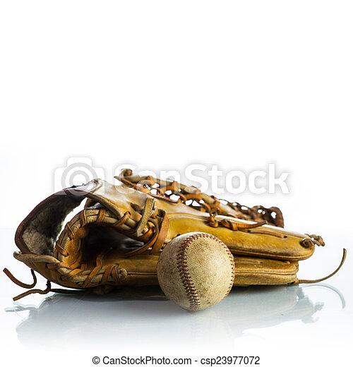 Béisbol antiguo - csp23977072