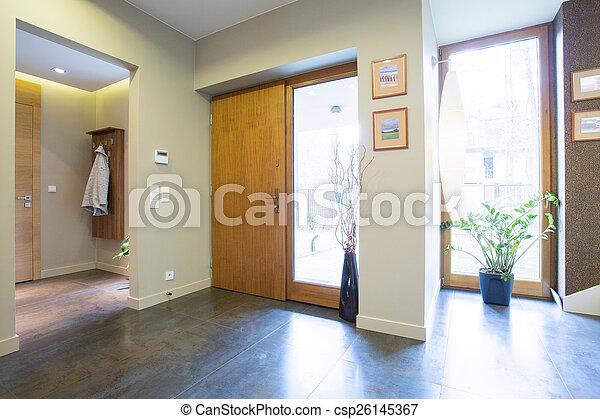 bejárat, fenék, ajtók - csp26145367