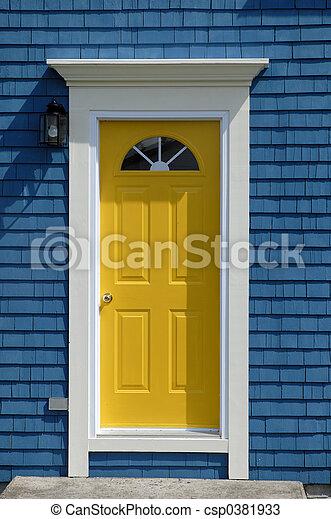 bejárati ajtó, sárga - csp0381933