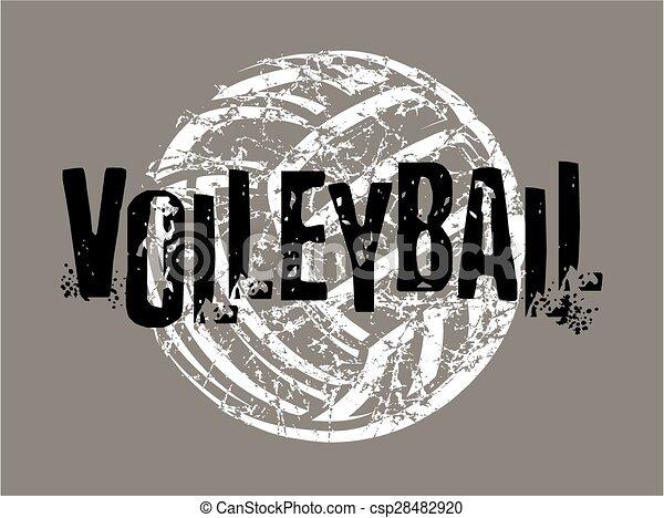 bekümmert, volleyball - csp28482920