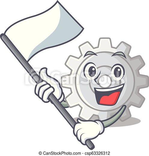 bekapcsol, lobogó, tervezés, karikatúra, legjobb, ikon - csp63326312