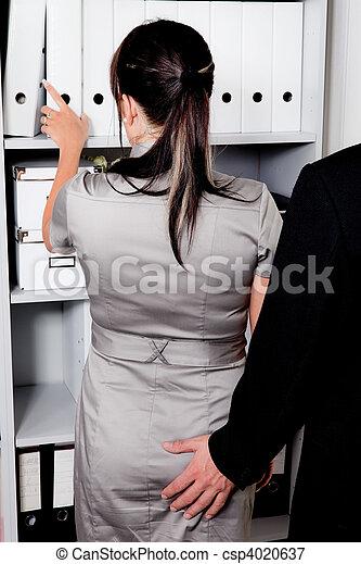 belästigung, arbeit, sexuell, buero - csp4020637