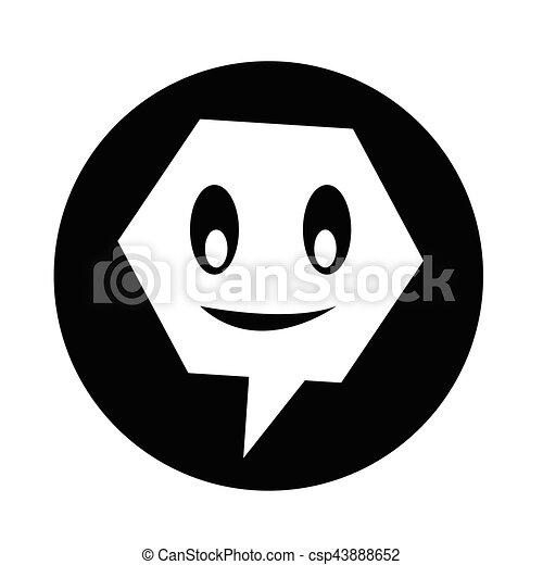 bel, klesten, toespraak, pictogram - csp43888652