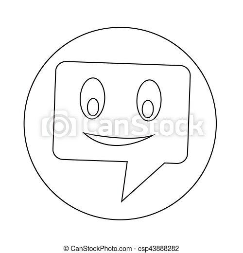 bel, klesten, toespraak, pictogram - csp43888282
