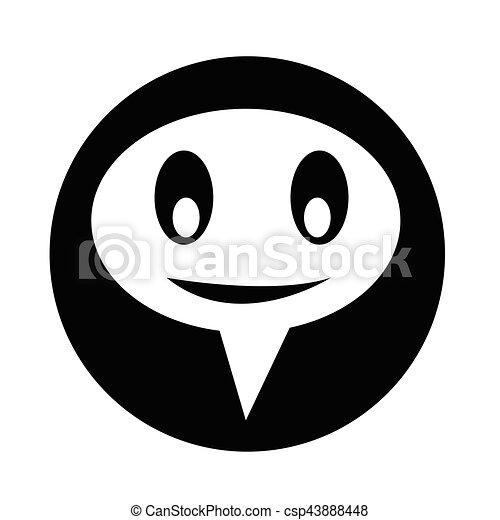 bel, klesten, toespraak, pictogram - csp43888448
