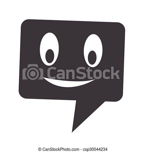 bel, klesten, toespraak, pictogram - csp30044234