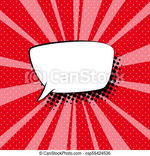 bel, toespraak, retro, achtergrond, rood - csp56424536
