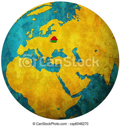 belarus flag on globe map - csp6046270