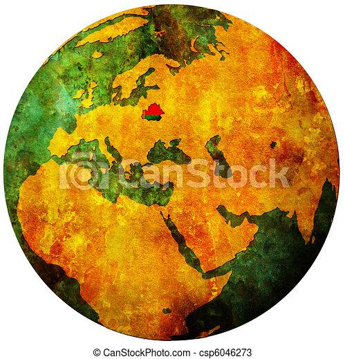 belarus flag on globe map - csp6046273