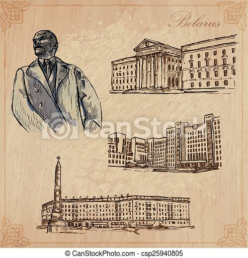 Belarus. Hand drawn vector pack no.1 - csp25940805