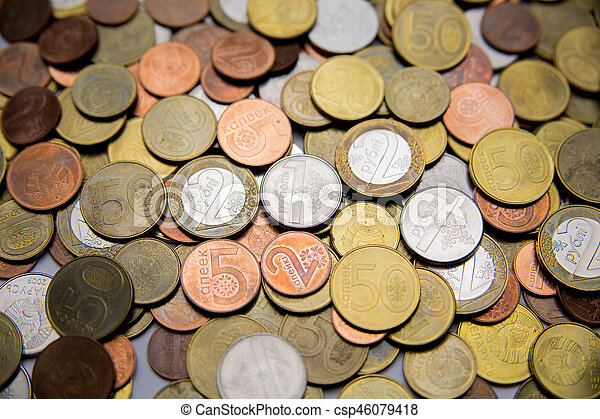 Belarusian coins are on the table - csp46079418