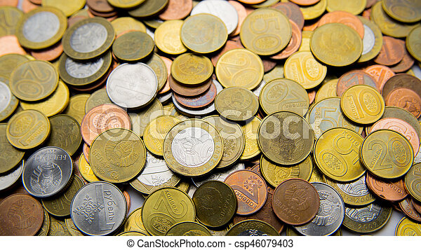 Belarusian coins are on the table - csp46079403