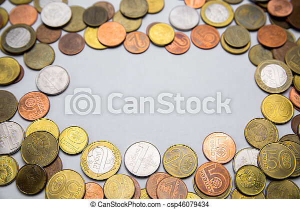 Belarusian coins are on the table - csp46079434