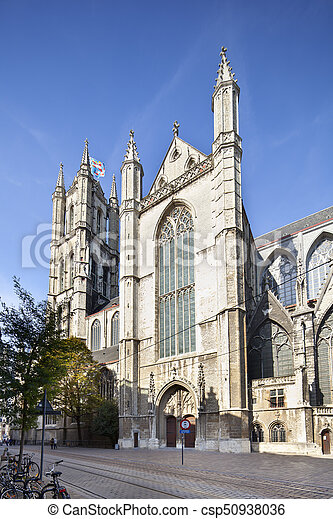 Belfort in Ghent, Belgium - csp50938036