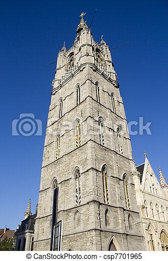 Belfort Tower in Ghent - csp7701965