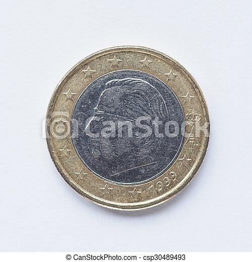 Belgian 1 Euro coin - csp30489493