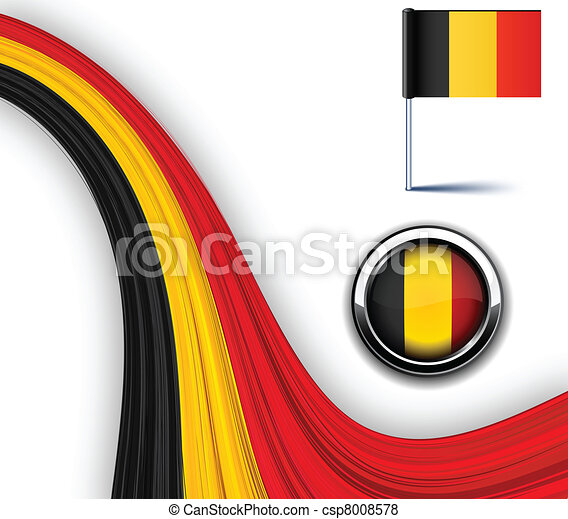 Belgian flag. - csp8008578