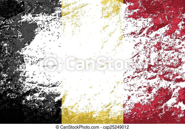 Belgian flag Grunge background.  - csp25249012