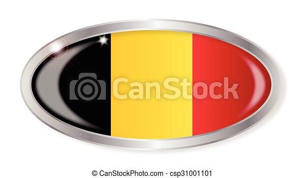 Belgian Flag Oval Button - csp31001101