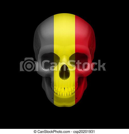 Belgian flag skull - csp20201931