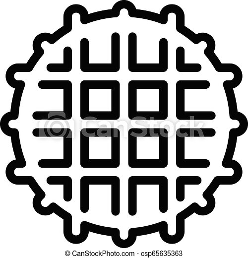 Vector Waffle Clip Art
