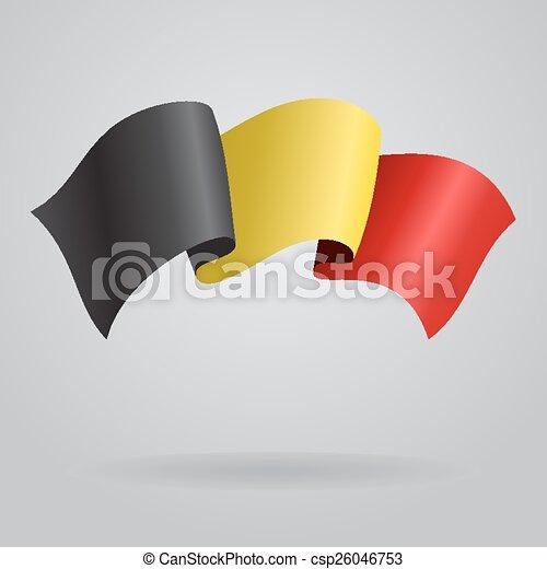 Belgian waving Flag. Vector illustration - csp26046753