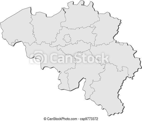 Belgien Karte Umriss.Belgien Landkarte