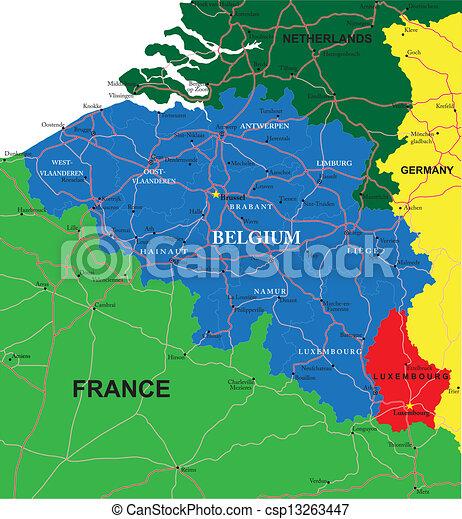 Carte De La Belgique Villes.Belgique Carte