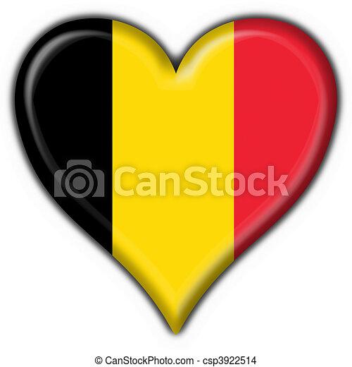 Belgique coeur bouton drapeau forme coeur fait - Bouton de liege ...