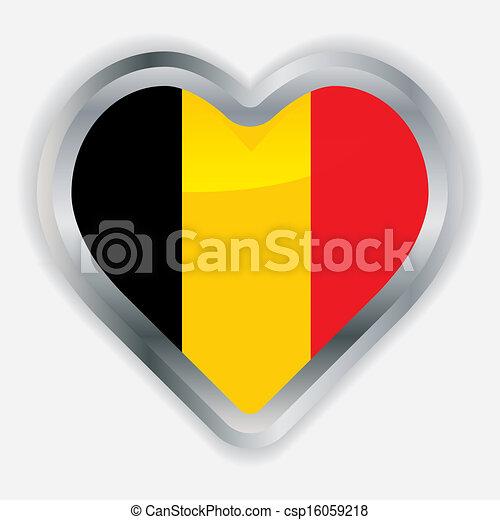 Belgique coeur drapeau lustr bouton clipart vectoris - Bouton de liege ...