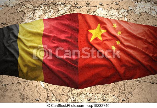 Belgium and China - csp18232740