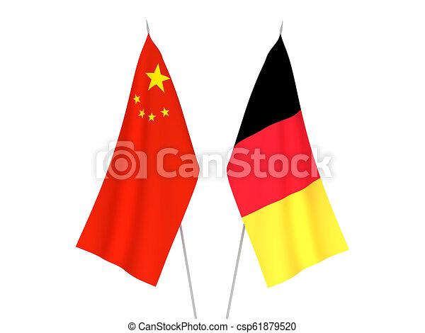 Belgium and China flags - csp61879520