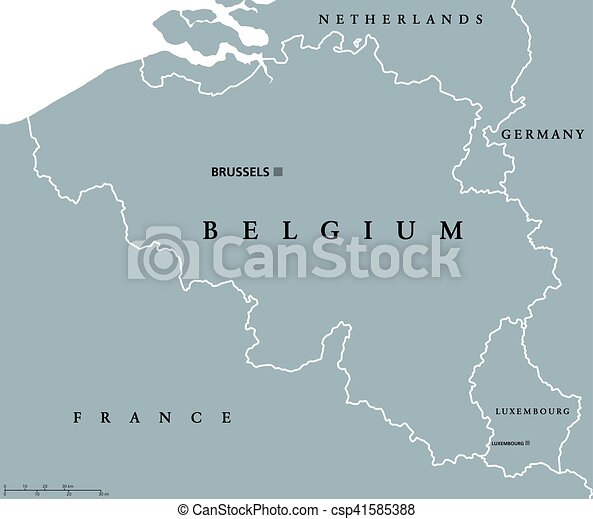 Map Of France And Luxembourg.Belgium And Luxembourg Political Map