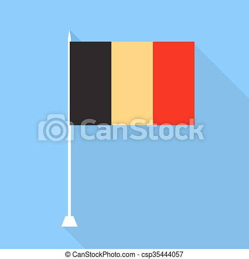 Belgium flag. Vector illustration . - csp35444057